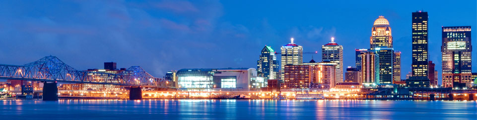 Louisville KY Downtown Skyline